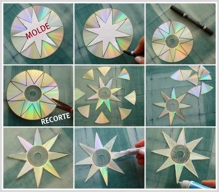 Enfeites para o natal com CDs 8