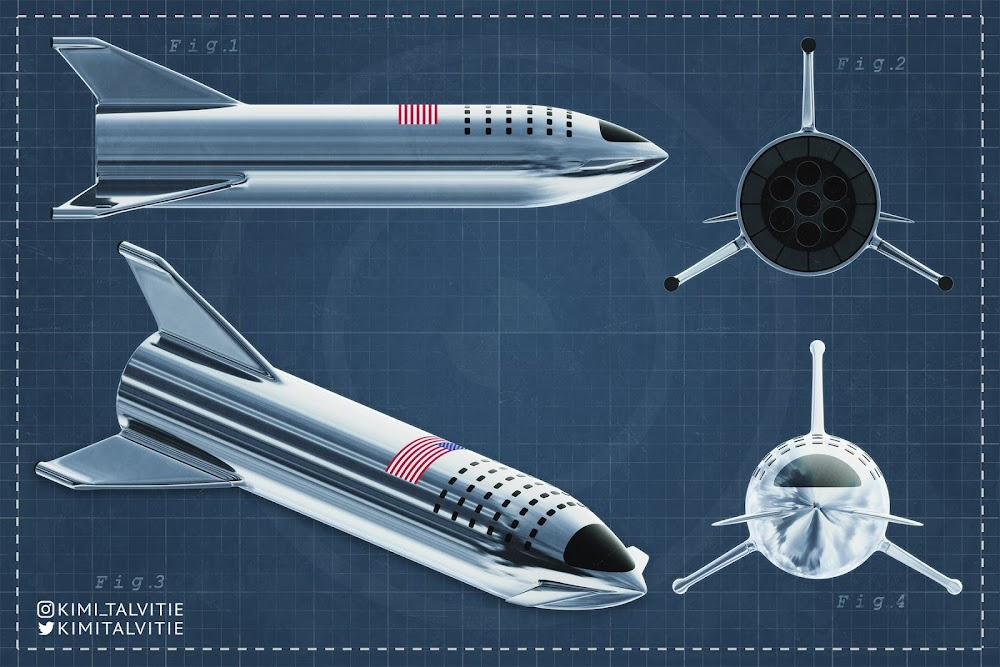 SpaceX stainless steel Starship infographic by Kimi Talvitie