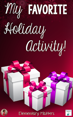 My Favorite Holiday Activity: Do you have an activity that works so well you bring it back every year? That's how I feel about this freebie!
