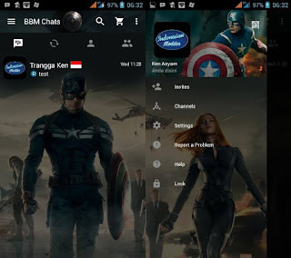 BBM Mod Captain America v2.13.1.14 Apk