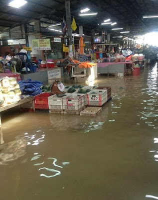 Flooded market near Chaweng