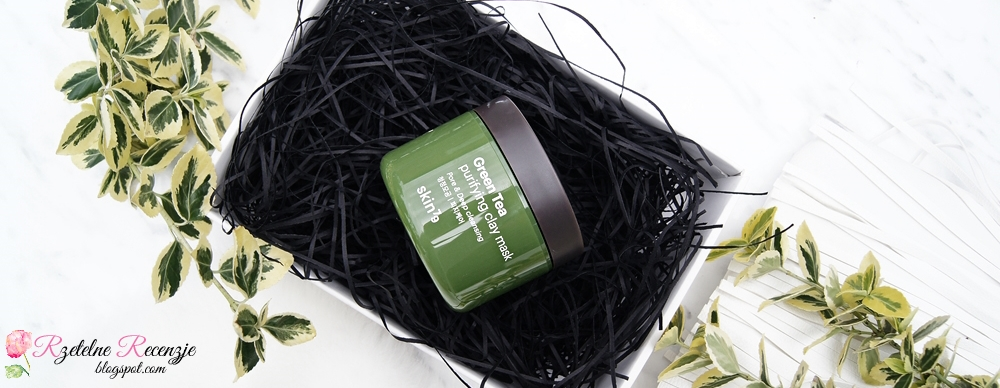 face mask with green tea, clay mask