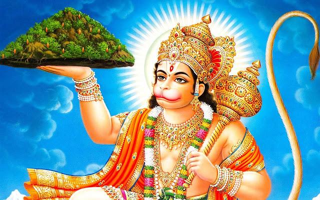 Lord Hanuman With Mountain  Wallpaper