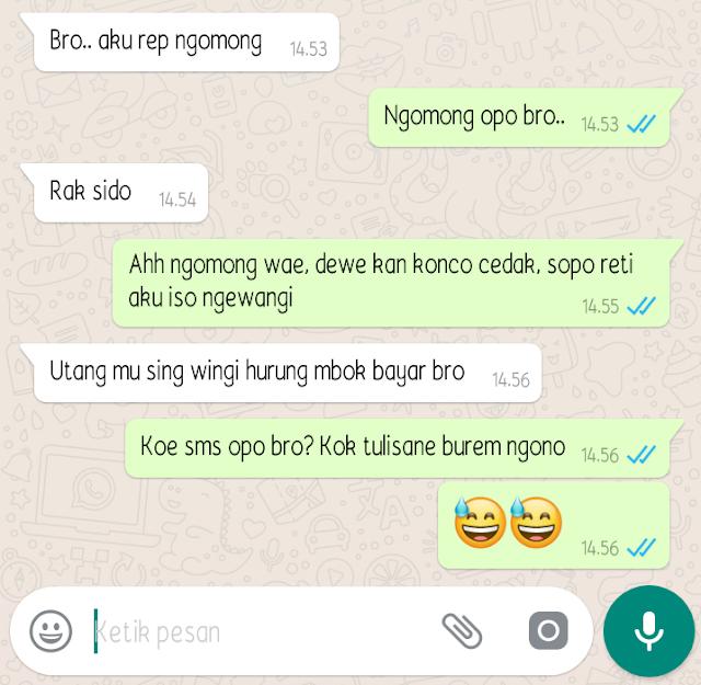 Kumpulan chat WA (Whatsapp) Lucu bahasa Jawa - wartapagi.id