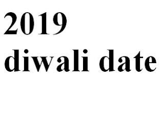 2019 Diwali date