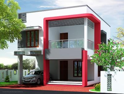 Tampak bagian depan rumah ini terlihat sangat elegan dan modern.