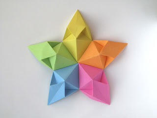 Origami modulare Stella aquilone - Kite Star by Francesco Guarnieri