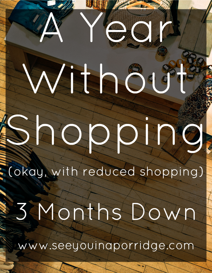 3 Months Down - My 1 year shopping challenge.