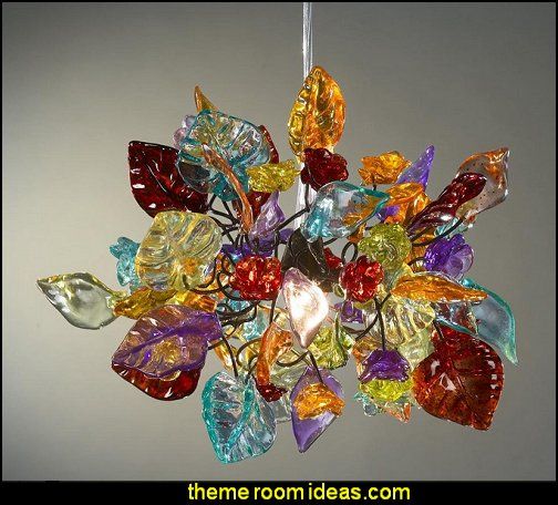 Colorful leaves and flowers Chandelier Ceiling Light