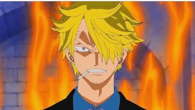 sanji on fire