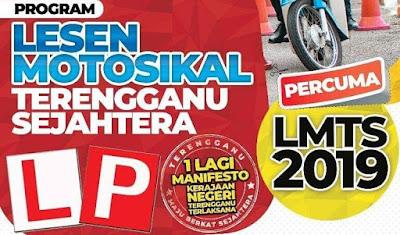 Permohonan Lesen Motosikal Terengganu Sejahtera 2019 Online
