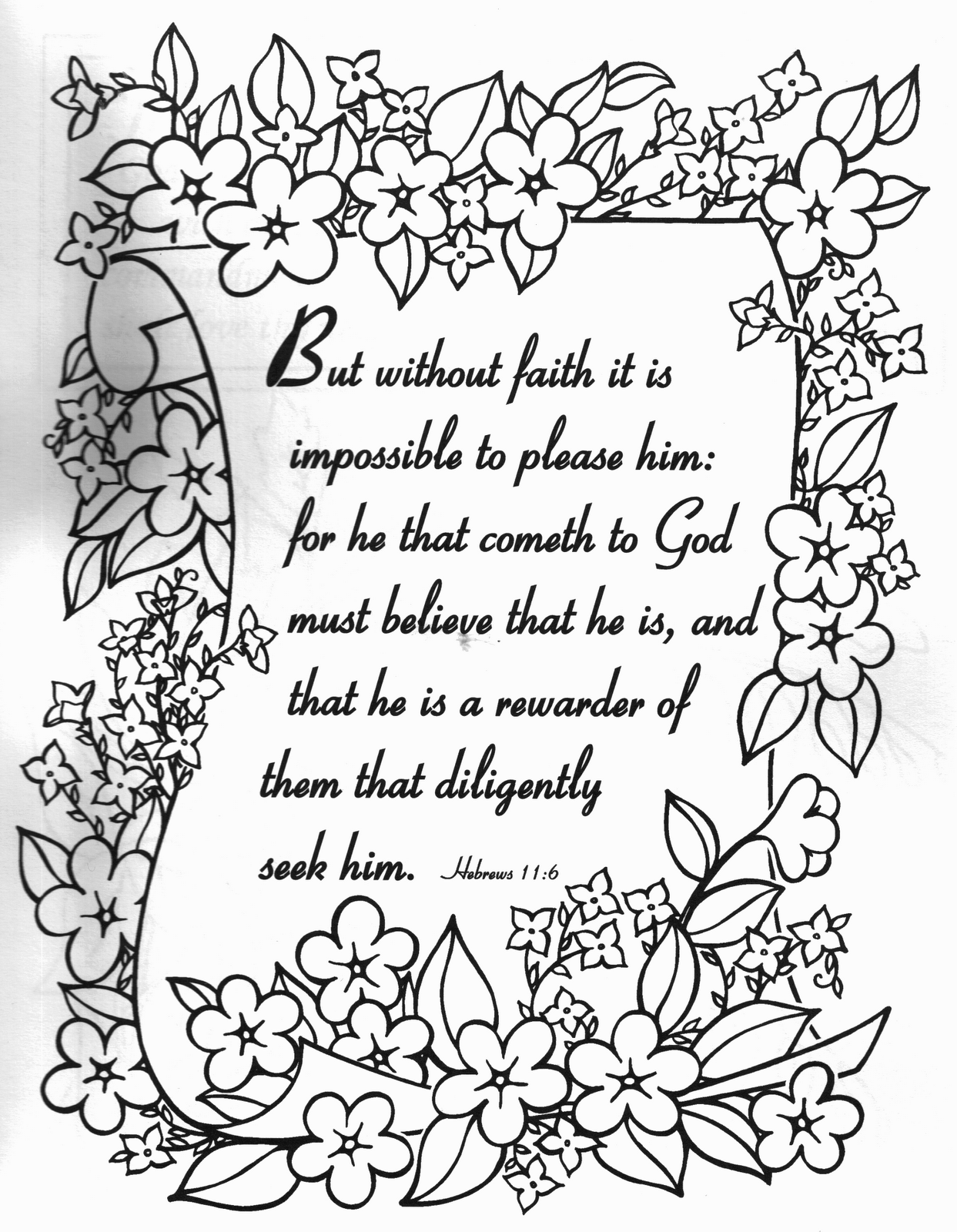 christian coloring pages with verses - photo #10