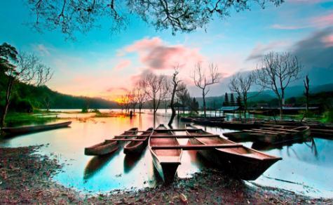 Tempat wisata danau tamblingan di bedugul bali