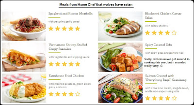 wolf rating meals from homechef.com
