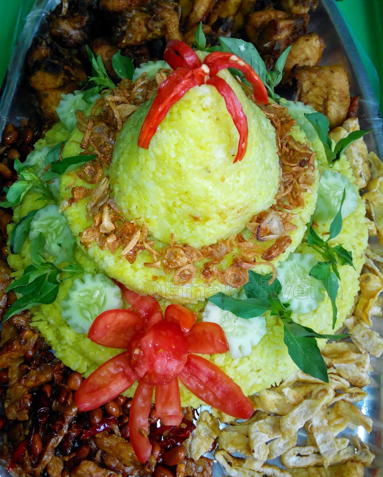 Resep Nasi Tumpeng : resep, tumpeng, Tumpeng, Sederhana, Dapur, Ngebut