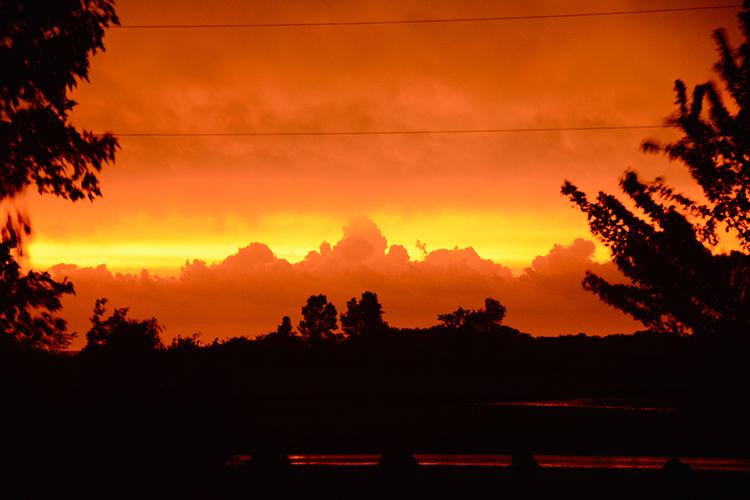 Fire sky; Sunset; Northeast Wisconsin | My Darling Days Blog