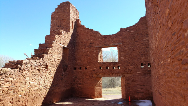 Ruins of Quarai Salinas Pueblo Mission in Mountainair, New Mexico