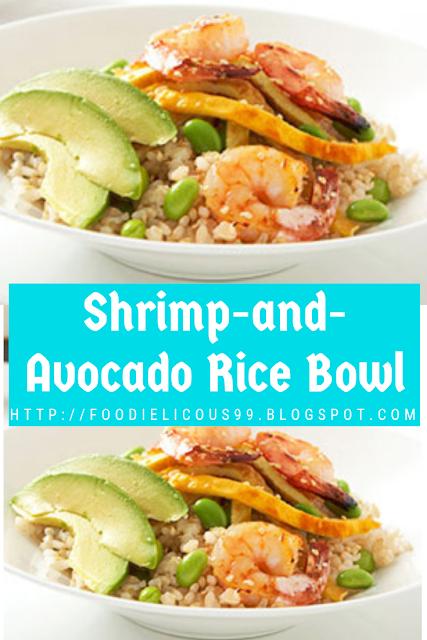 Shrimp-and-Avocado Rice Bowl