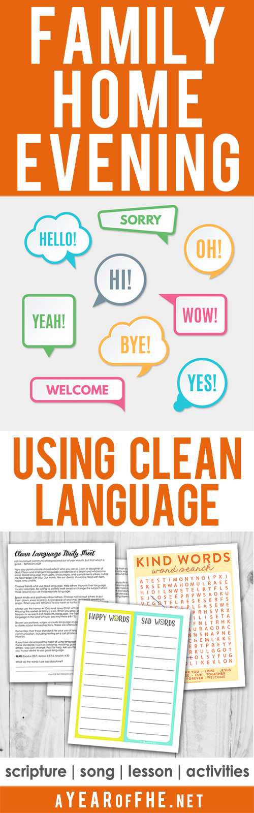 A Year of FHE: Year 03 / Lesson 19: Using Clean Language