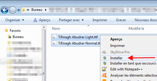 tifinagh windows