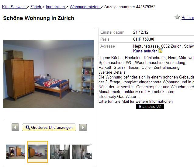 sch ne wohnung in z rich neptunstrasse 8032 z rich schweiz. Black Bedroom Furniture Sets. Home Design Ideas