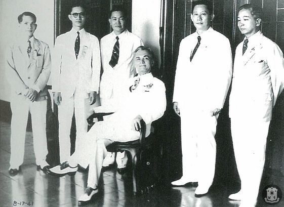 Benigno Aquino Sr. (4th from left) with President Manuel L. Quezon, 17 August 1941 worldwartwo.filminspector.com