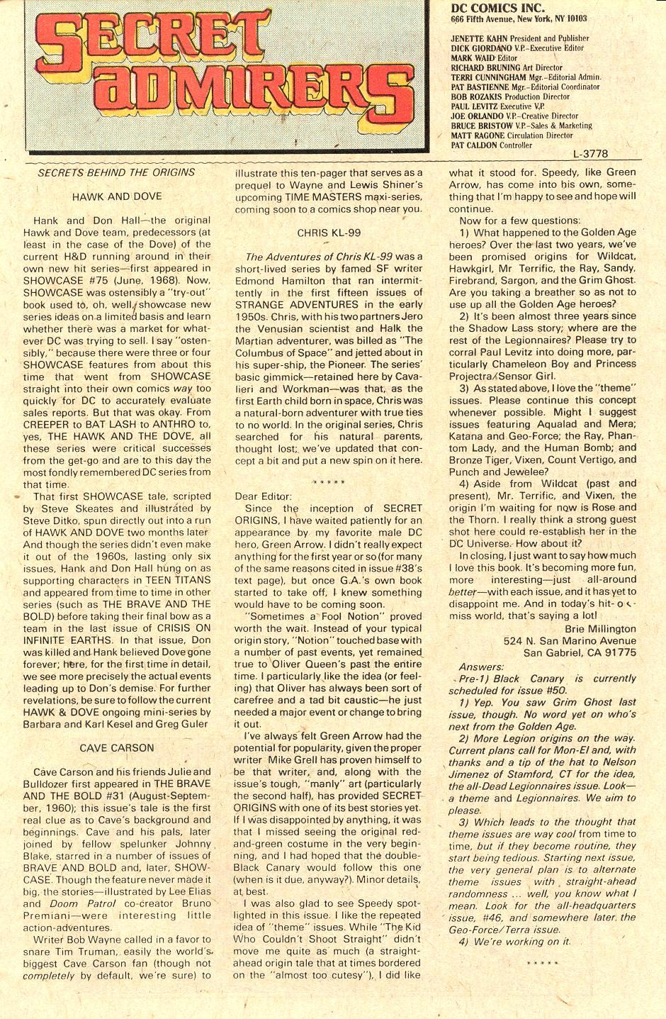 Read online Secret Origins (1986) comic -  Issue #43 - 38