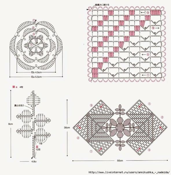Rustic Lace Square Free Pattern Diagram Manual Guide