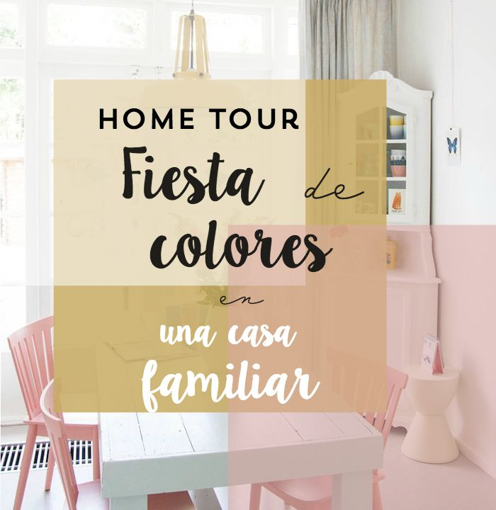 fiesta colores en una casa familiar
