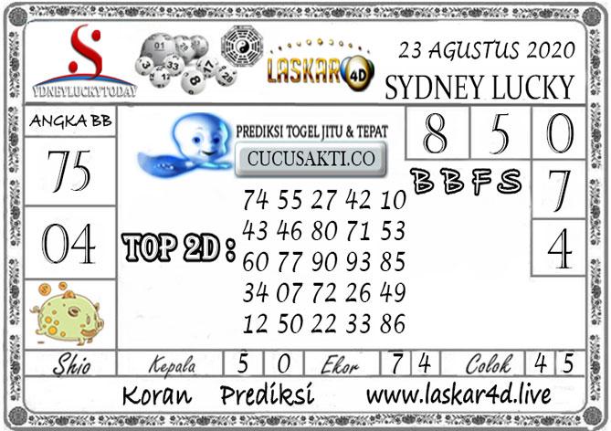 Prediksi Sydney Lucky Today LASKAR4D 23 AGUSTUS 2020