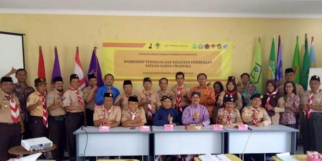 Workshop Pengelolaan Kegiatan Pembinaan Satuan Karya Pramuka