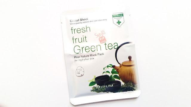 Mirum Fresh Fruit Green Tea Real Nature Mask Pack