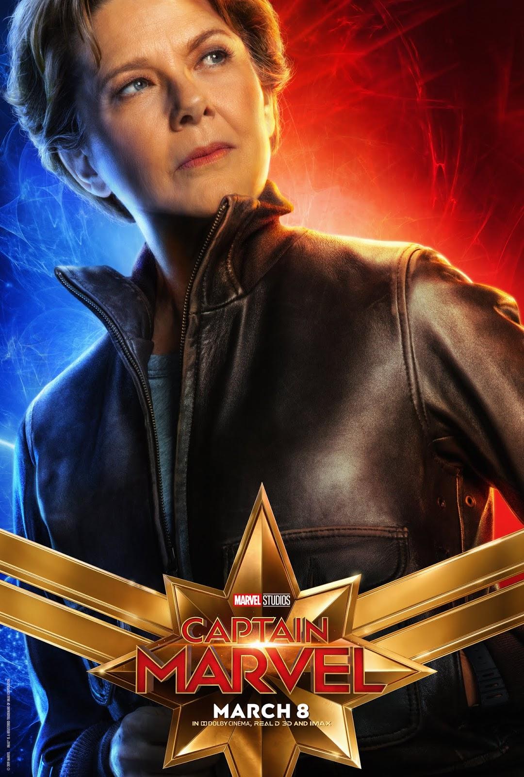 sasaki time: captain marvel character poster - annette bening