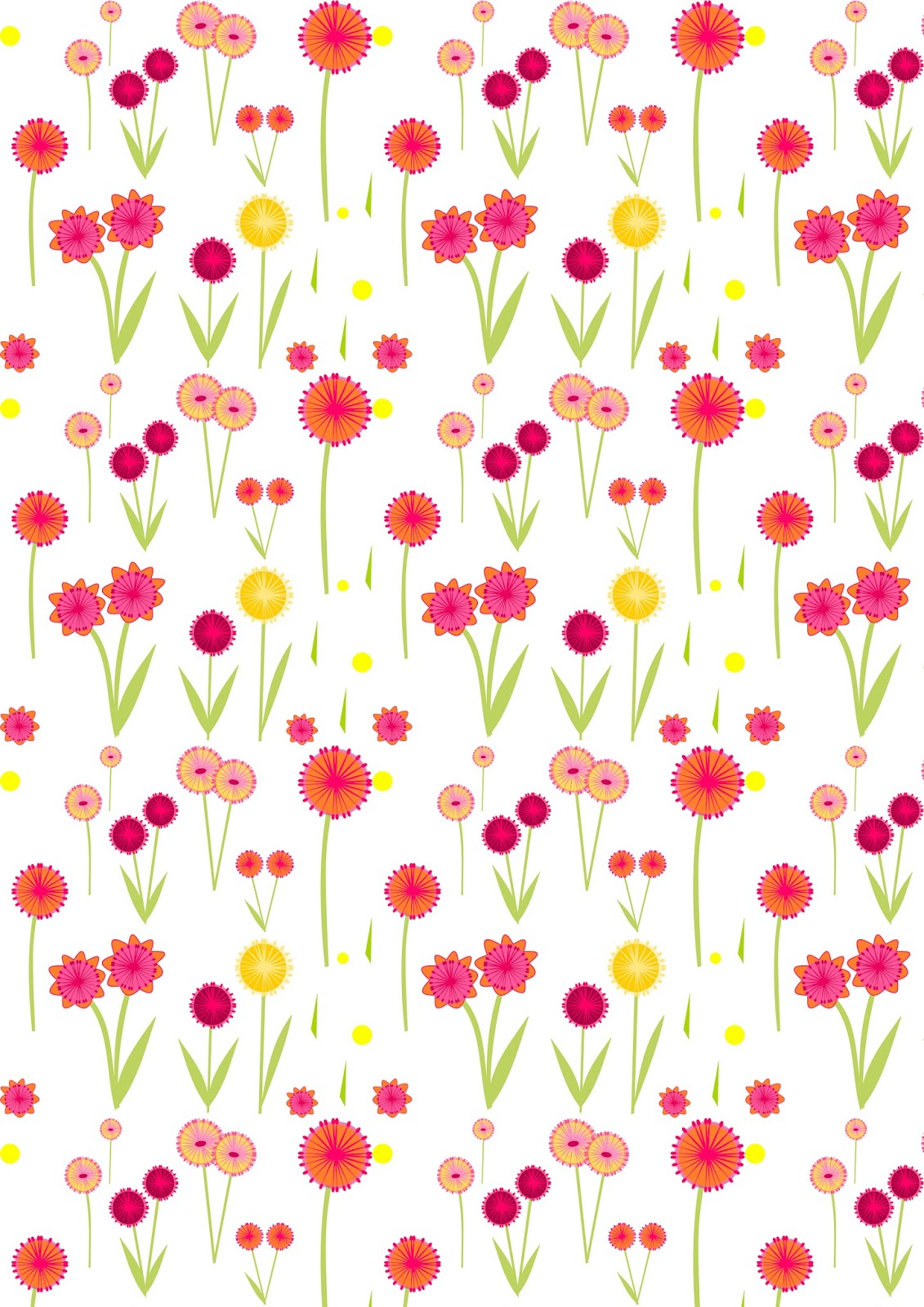 Free Digital Flower Scrapbooking Paper