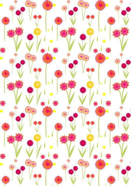 free digital flower scrapbooking paper - ausdruckbares geschenkpapier