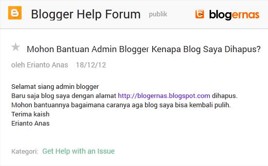 Kapan blogernas.com Erianto Anas Dibangun?
