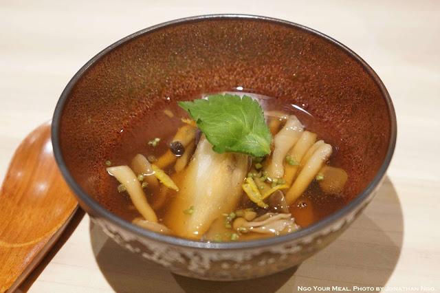Japanese Taro in Mushroom Dashi Broth at Shuraku in New York City