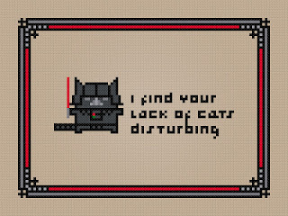 Cross Stitch PDF Pattern Download - I Find Your Lack of Cats Disturbing - Star Wars