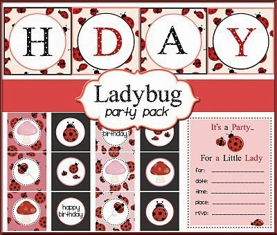 Ladybug Free Printable Party Pack