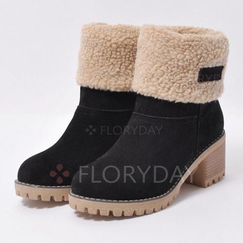 Closed Toe Chunky Heel Shoes