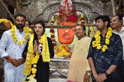 Kanak Yadav at Khajrana Ganesh Mandir indore