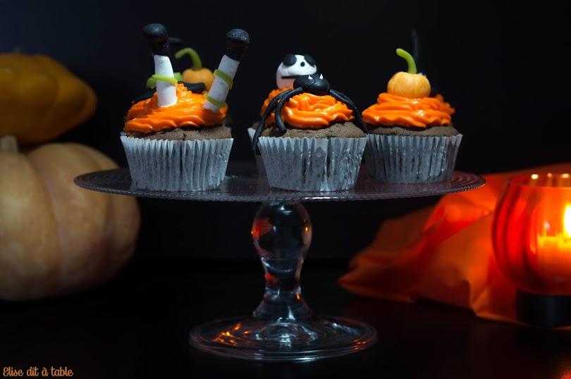 recette Cupcake chocolat halloween