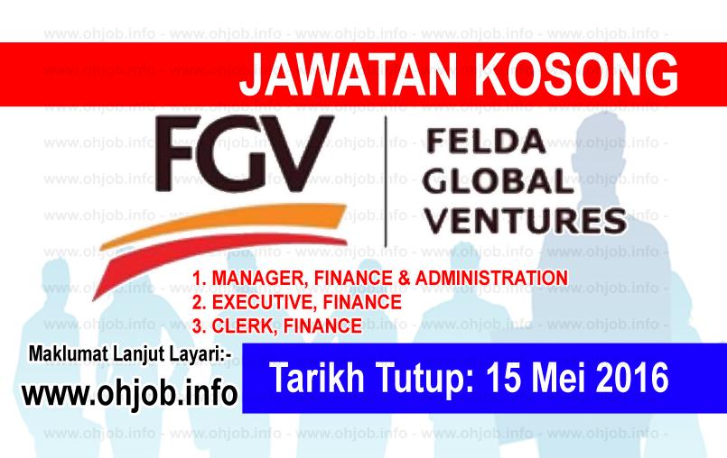 Jawatan Kerja Kosong Felda Global Ventures (FGV) logo www.ohjob.info mei 2016