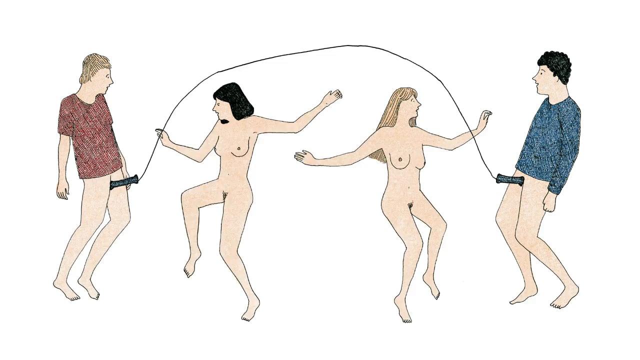 Marion Fayolle, Ilustración de dos parejas teniendo sexo