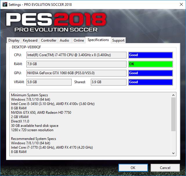 PES 2018 Settings ~ PESNewupdate com | Free Download Latest