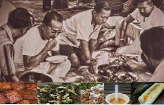Soeharto dan rakyatnya makan bersama