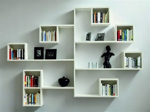37 gambar desain lemari rak buku minimalis modern dari kayu