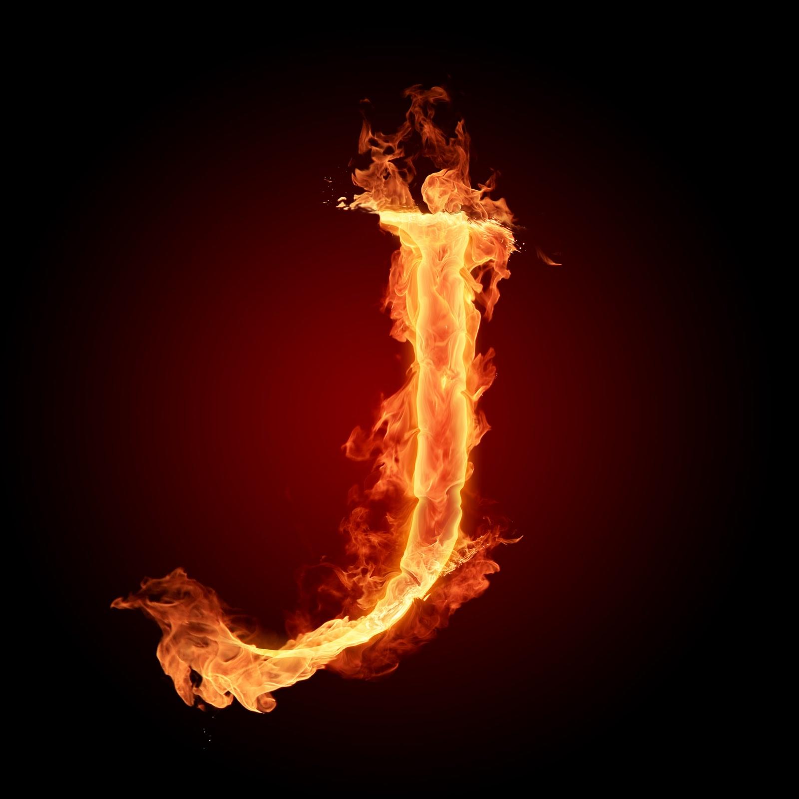 Gaya Unik Huruf A sampai Z dengan Elemen Api - LingkaranDunia