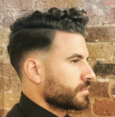 potongan rambut pria terbaru berjenggot