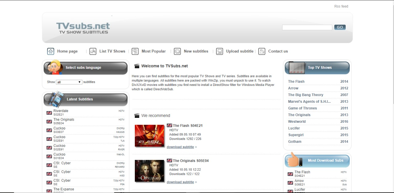Subtitle download sites
